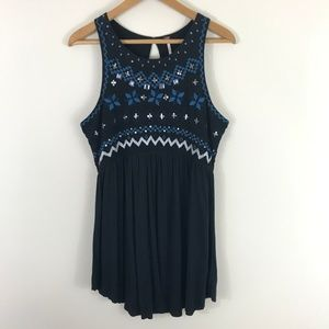 Free People Embroidered Beaded Dress Size Large